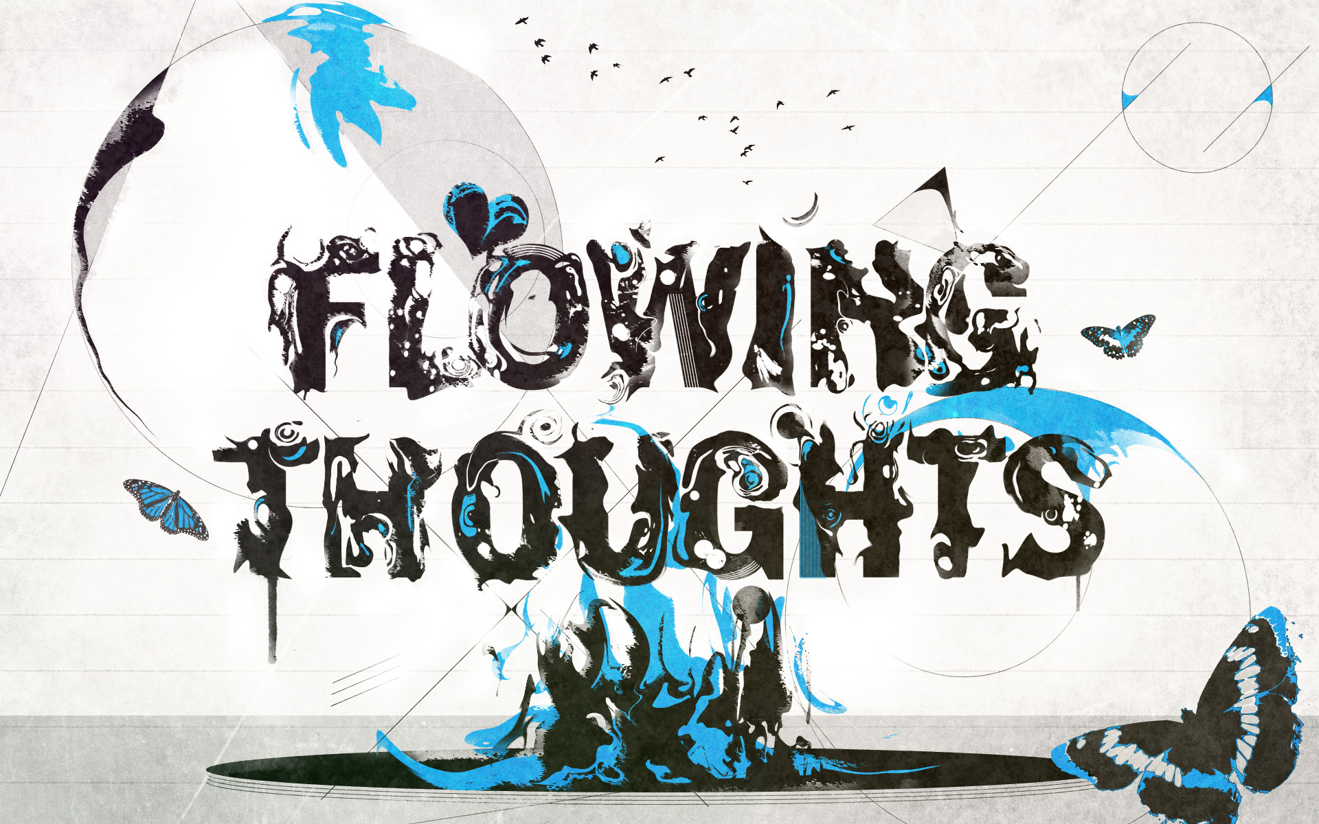 flowing thoughts wallpaper graphic design a wallpaper i made for my ...