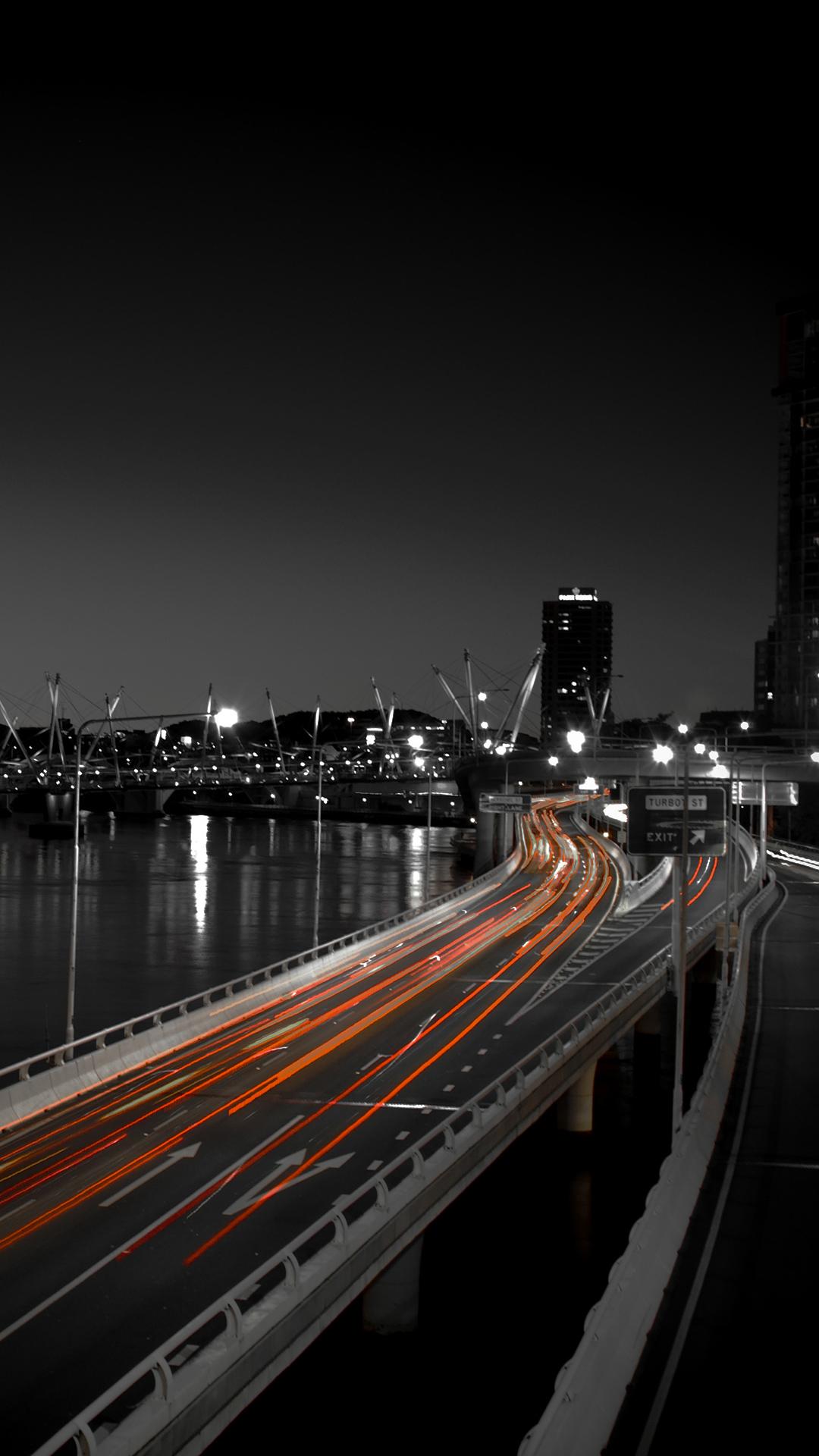 Hd wallpaper 1080x1920 - Dark City Light Road Amoled Wallpaper 1080x1920