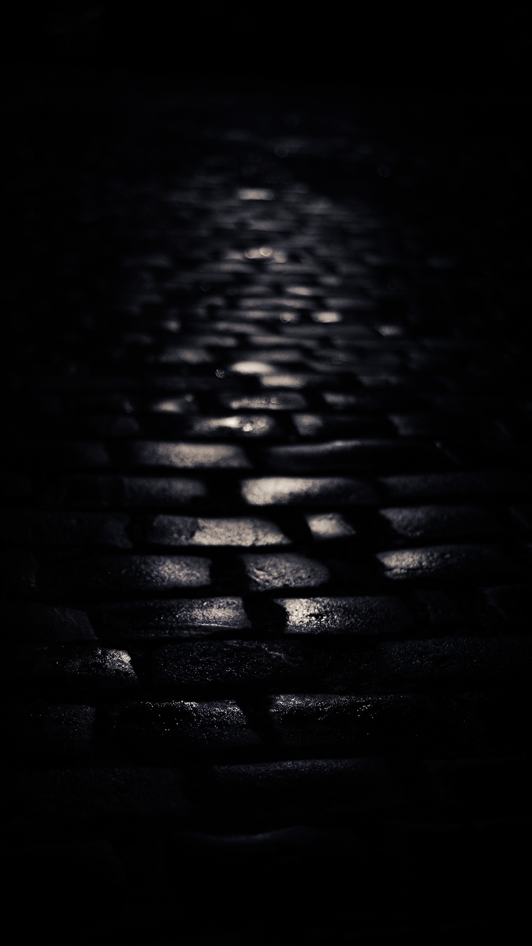 Street cobblestones Amoled Wallpaper 1080x1920
